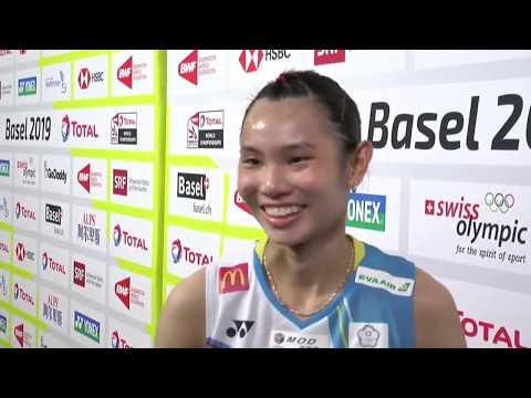 2019.08.23 世錦賽 8強 戴資穎賽後訪問 World Championships TAI Tzu Ying post-match interview