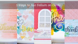 5 Ways to Use Vellum on Cards -- Stash Bash October 2018