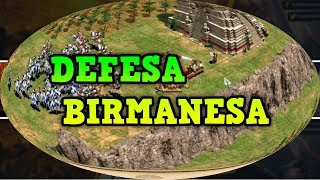 Age of Empires 2 HD Defesa Birmanesa AoE2HD Gameplay PT BR