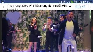 Thu Trang, Diệu Nhi quậy tưng đám cưới Vinh Râu Fap TV