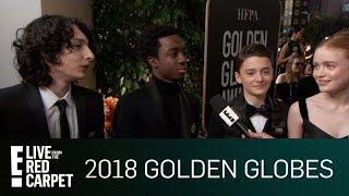"""Stranger Things"" Cast Excited for 2018 Golden Globe Awards | E! Live from the Red Carpet"