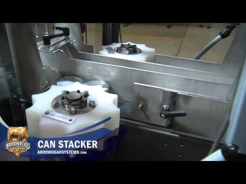 Arrowhead Conveyor Can Stacker