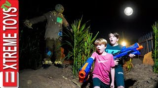 Through the Spooky Corn Field! Sneak Attack Squad Halloween Part 1