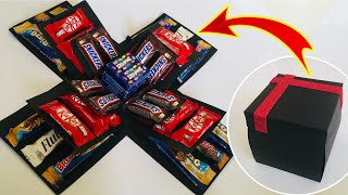 Surprise gift box for birthday, anniversary, Diwali   chocolate Explosion box for loved one