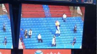 KU Basketball Harlem-Shake Student Section & Big Jay
