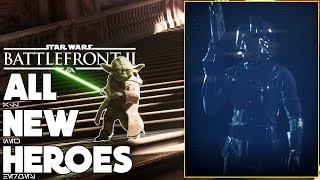 All NEW Heroes Confirmed! Yoda and Kylo Ren Abilities? - Battlefront 2