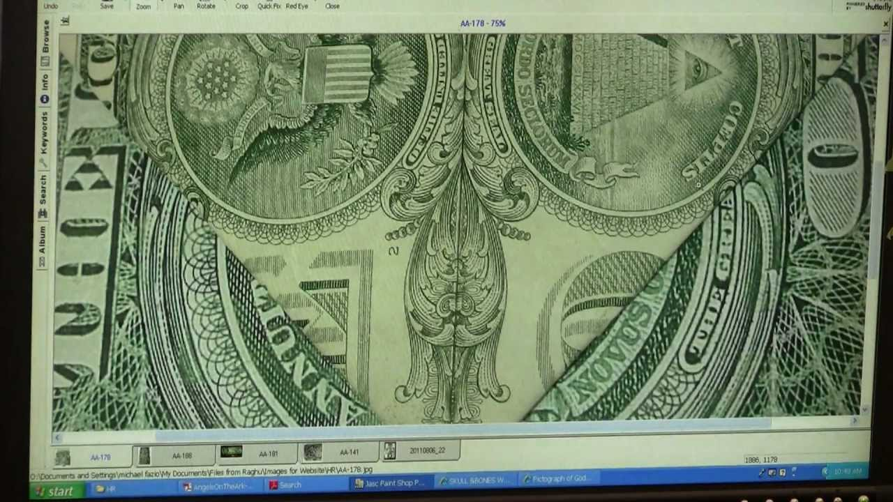 Satanic Baphomet Rams Head Skull & Bones 322 on Dollar ...Dollar Bill Secrets Alien