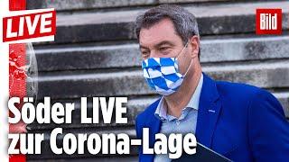 🔴  Söder LIVE zu weiteren Corona-Maßnahmen in Bayern   BILD LIVE