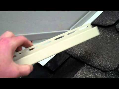 Siding And Roofing Flashing Wall Detail Youtube