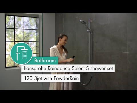 Hansgrohe Raindance Select S 120 3Jet P Handshower Set 0.90m - PowderRain