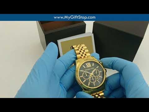 video Men's Gold-Tone Lexington Chronograph Watch MK8494