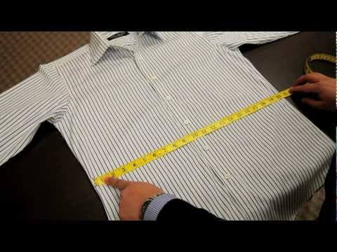 How to measure the waist off a ready made shirt by Spier & Mackay?