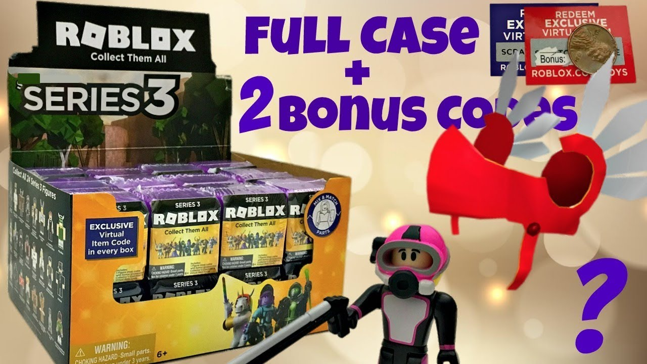 Roblox Mystery Box Series 3 - Roblox Celebrity Series 3 Purple Mystery Boxes Code Items Unboxing Toy Review