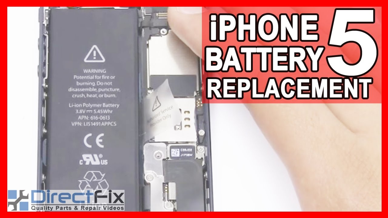 iphone 5 replacement battery how to replace iphone 5 battery directfix 14567