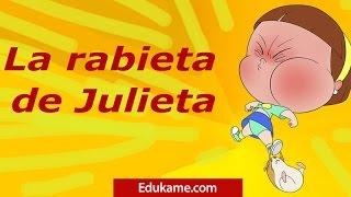 La rabieta de Julieta - Cuento infantil de educación emocional de Edúkame