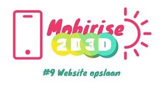 Mobirise Website opslaan