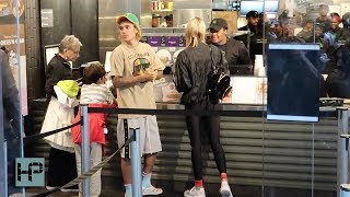 Justin Bieber and Hailey Baldwin Date Night - Shake Shack and a Movie