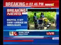 Andhra Pradesh: Hospital staff carry garbage on wheelchair..