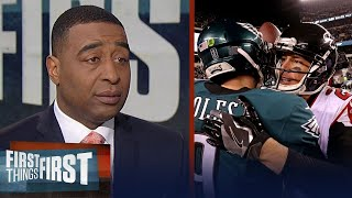 Nick and Cris on the Eagles' 15-10 win over the Falcons in the NFL playoffs | FIRST THINGS FIRST
