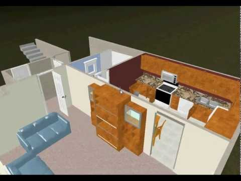 Real 3d basement Design Virtual Walkthrough like on HGTV!
