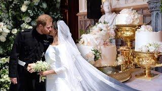 HARRY & Meghan's stunning £50,000 wedding cake has been unveiled