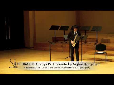CHI HIM CHIK plays IV Corrente by Sigfrid Karg Elert
