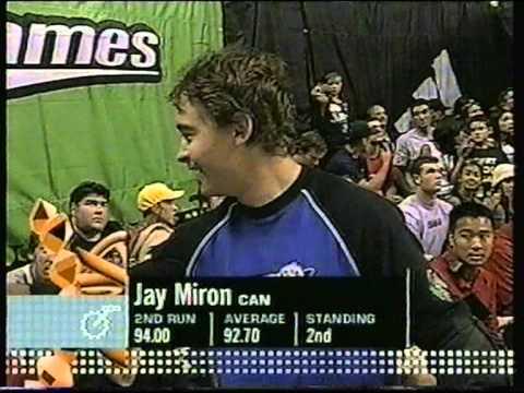 Jay Miron vs Dave Mirra- X games 2001 bmx vert