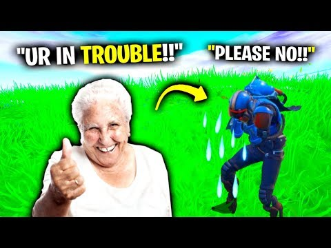 I Pretended To Be A Grandma In Fortnite