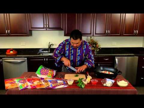 Azteca Food's Chef Gustavo Presents Parmesan-Crusted Tomato, Basil & Mozzarella Quesadillas