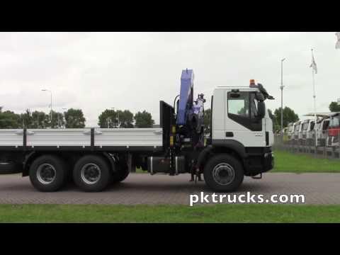 iv3744 - Iveco TRAKKER AD380T38H 6x4  PM, crane cw flatbed - NEW