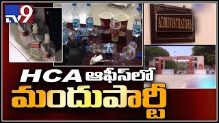 Liquor Party at Hyderabad Cricket Association CEO Office..