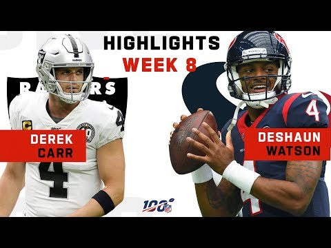 Derek Carr vs. Deshaun Watson 3 TD Duel | NFL 2019 Highlights