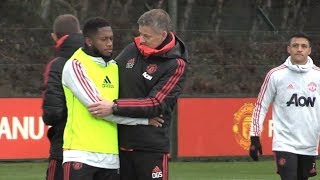 Manchester United Training Ahead Of Match Against Brighton