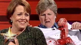 Sigourney Weaver Helps Recreate The Iconic Alien Moment | The Graham Norton Show