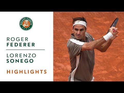 Roger Federer vs Lorenzo Sonego - Round 1 Highlights | Roland-Garros 2019