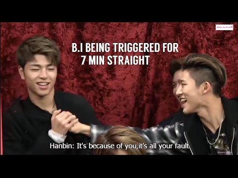 B.I being triggered/mad for 7 min straight compilation