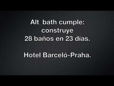 Alt_bath construye 28 baños en 23 días para el hotel Barceló Praha