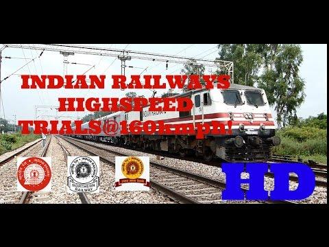Baixar Indian Railways New Delhi-Agra Semi Highspeed Bullet Train Trials at 160kmph!