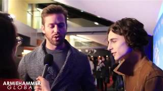 Interview: Armie Hammer and Timothée Chalamet in Paris for Call Me By Your Name