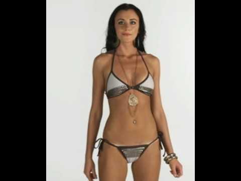 Slim athletic model wears Brazilian bikini Xereu