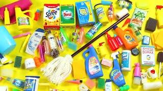 100 DIY Miniature Barbie Dollhouse Accessories #4  -  Bath & Cleaning Supplies - simplekidscrafts
