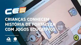 Crianças conhecem história de Fortaleza com jogos educativos