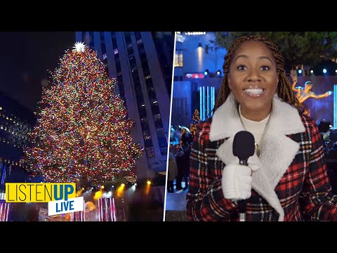 Rockefeller Center Christmas Tree Lighting 2019 | Listen Up Live