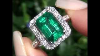 Angelina Jolie Certified Zambian Emerald & Diamond Ring New Consignment Up For Immediate Auction