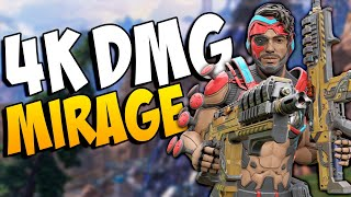 The Season 8 Mirage buff secured me this 4K damage game!! - APEX LEGENDS