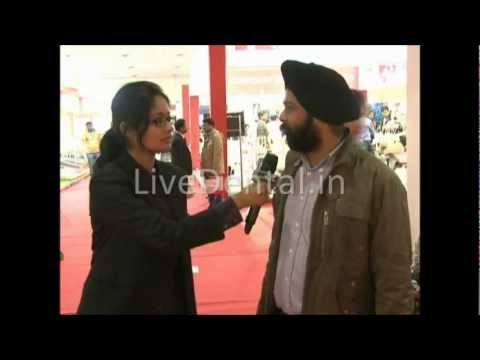 LiveDental.in | Dr.Gurmeet Singh in Expodent International 2012