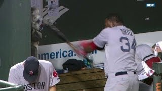Big Papi ANNIHILATES dugout phone with bat after an ejection