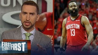 Harden's 38 pts leads Rockets past Warriors in GM 5 - Nick & Cris react | NBA | FIRST THINGS FIRST