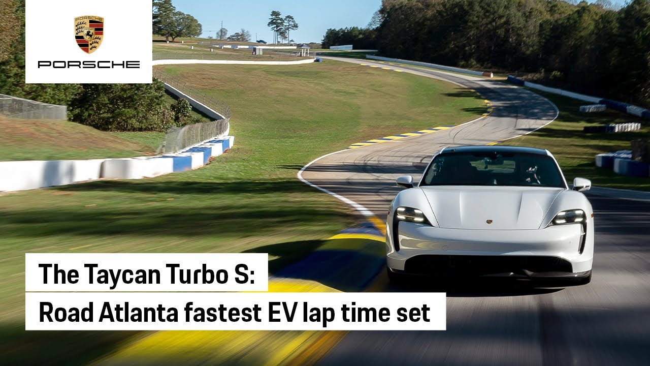 Porsche Taycan Sets EV Lap Time at Road Atlanta