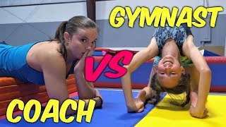 Gymnasts VS Coach - Flexibility Competition| Rachel Marie